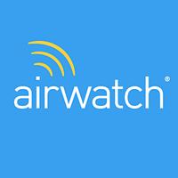 airwatch logo in blue box