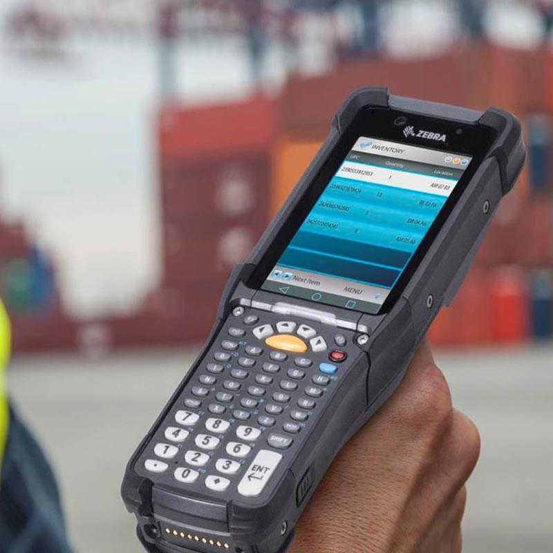 close up image of zebra handheld computer